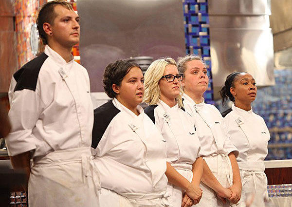 "The final five on ""Hell's Kitchen."""