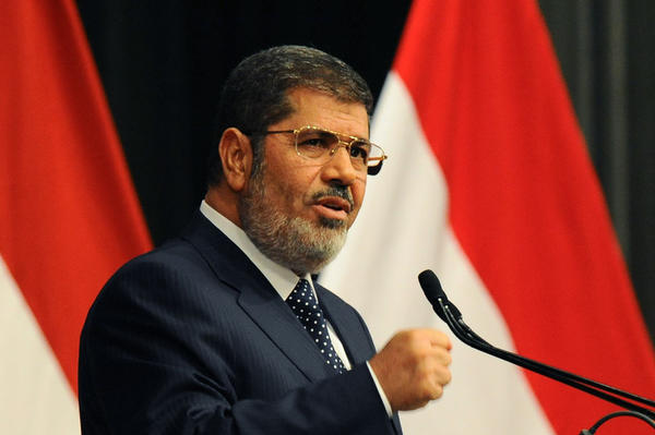 Egyptian President Mohammed Morsi told his opponents to use elections rather than protests to try to change the government.