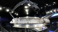 Space shuttle Atlantis in a 360-degree panorama