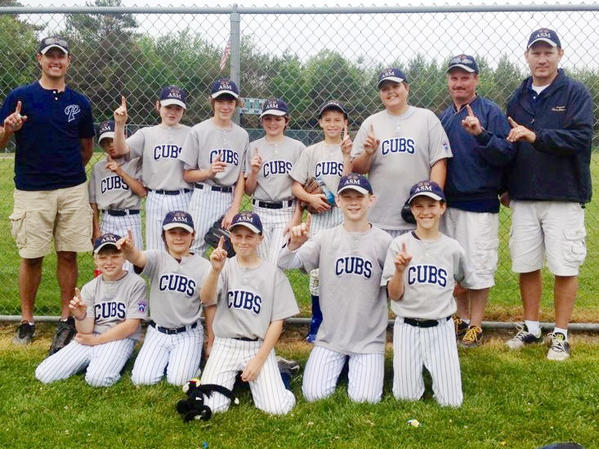 The All Seasons Maintenance Cubs defeated the News-Review Tigers, 10-7, in the championship game to claim the Petoskey Little League Majors Division (ages 11-12) title at Bates Field. The Cubs finished the season at 11-1 overall and 7-0 league. Team members are front (from left) Rylee Gordon, Caden Eaton, Trent Schrage, Jordan Bur, Gabe Whitmore; back, manager Kevin Whitmore, Dylan Flynn, Patrick McGeehan, Nathaniel Arndt, Cam Smith, Timmy Crittenden, Tate Fettig, coach Craig Schrage and coach Daryl Bur.