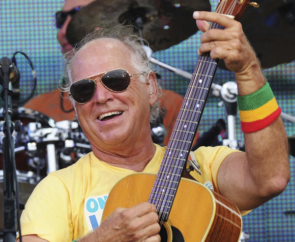 Musician Jimmy Buffett performs onstage at Jimmy Buffett & Friends.