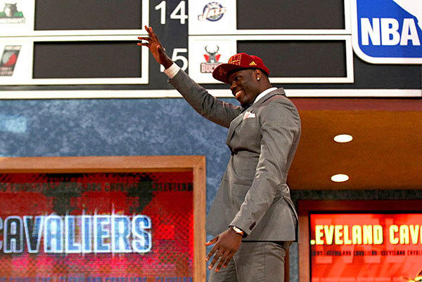 Anthony Bennett of UNLV waves to the crowd after being drafted #1 overall by the Cleveland Cavaliers on June 27.