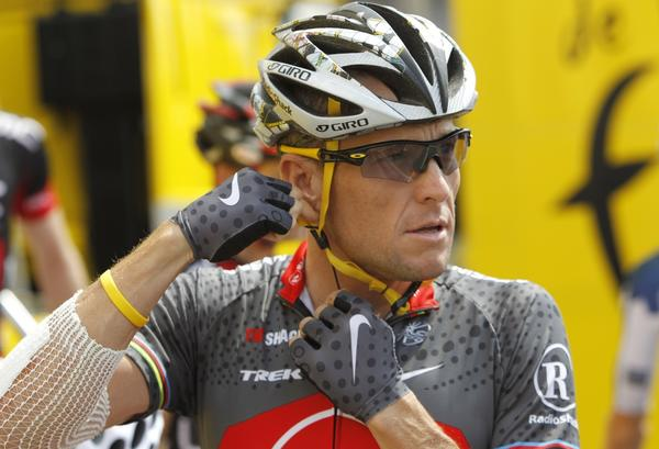 Lance Armstrong at the Tour de France.