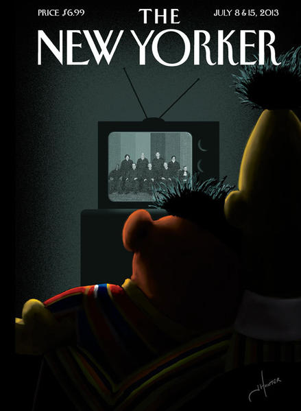 Next week's New Yorker cover depicts Bert and Ernie as a gay couple, and much of the Internet just won't stop talking about it.