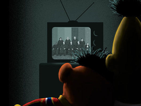Bert, Ernie on New Yorker cover