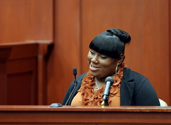 Witness Rachel Jeantel testifies during George Zimmerman's trial in Seminole circuit court in Sanford, Fla.