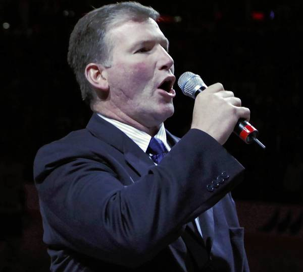 Blackhawks national anthem singer Jim Cornelison will perform at Ribfest in Naperville on July 4.