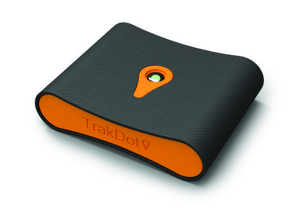 The Trakdot device is designed to let passengers keep track of their luggage.