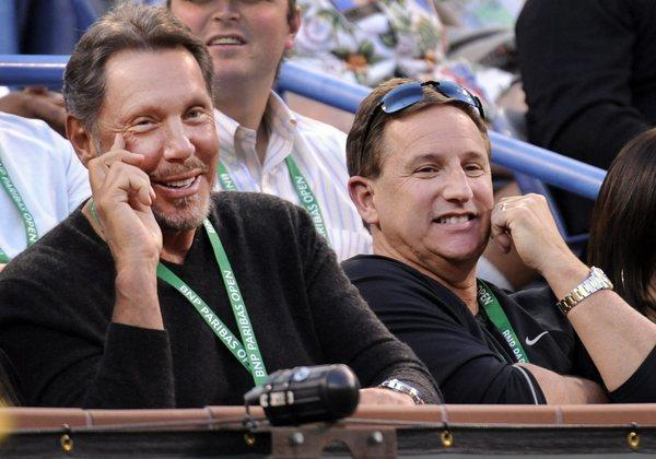 Oracle CEO Larry Ellison (left) and President Mark Hurd.