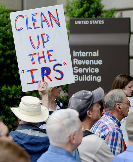 Rally outside IRS building in Washington, DC