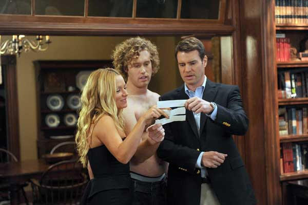 "The season finale of ""The Goodwin Games"" on Fox, with Becki Newton, left, T.J. Miller and Scott Foley."