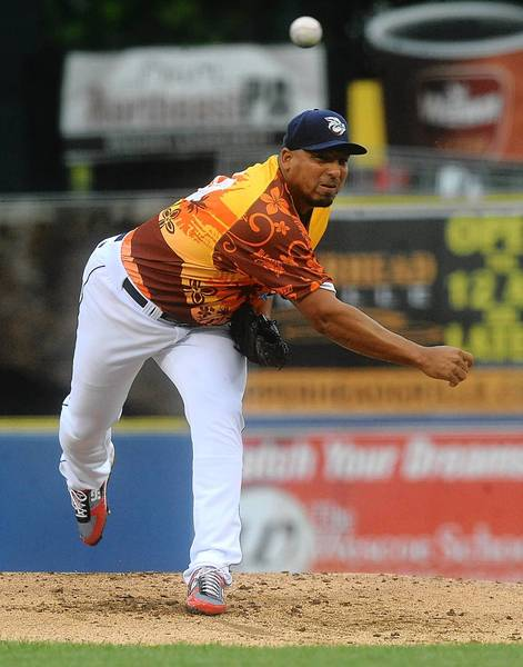 Carlos Zambrano left his start with the Lehigh Valley IronPigs Friday after two innings with shoulder tightness.