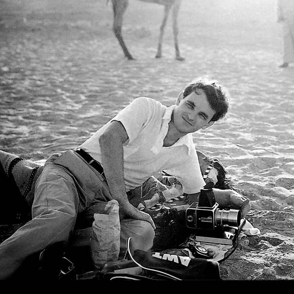"Bert Stern at a 1955 photo shoot in Egypt for Smirnoff vodka, during which he produced ""a truly breakthrough image"" that helped revolutionize advertising photography."