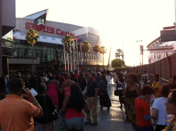 BET Experience crowds at LA Live
