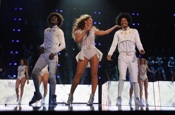 Beyonce performs on her Mrs. Carter Show World Tour 2013 during the BET Experience music festival on Friday in Los Angeles. Frank Micelotta/Invision for Parkwood Entertainment/AP Images)