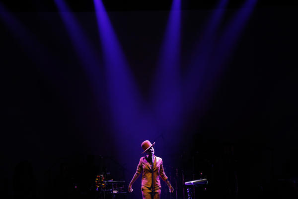 Soul singer Erykah Badu performs at Club Nokia during the BET Experience at L.A. Live.