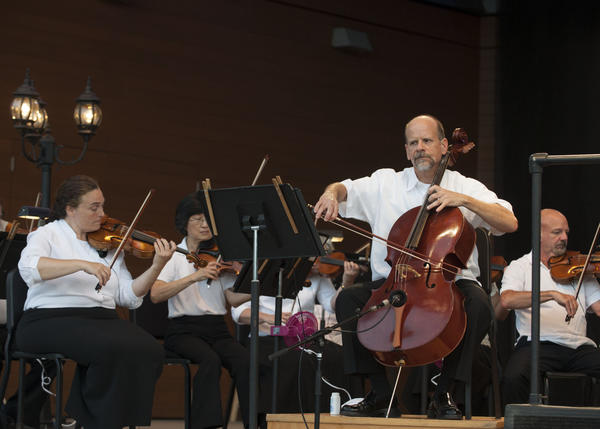 The Hartford Symphony Orchestras summer series, the Talcott Mountain Music Festival, opened with Mozart in the Moonlight on Friday evening, June 28 at the Performing Arts Center at Simsbury Meadows. The program included Haydns Cello Concerto No. 1 in C Major featuring HSO Principal Cellist Jeffrey Krieger.