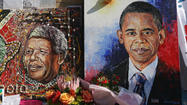 Obama hails Mandela, meets with family in South Africa
