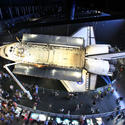 Space Shuttle Atlantis opening