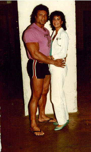 "Photos circa 1982-83 showing superstar wrestler Jimmy ""Superfly"" Snuka and his then girlfriend Nancy Argentino."