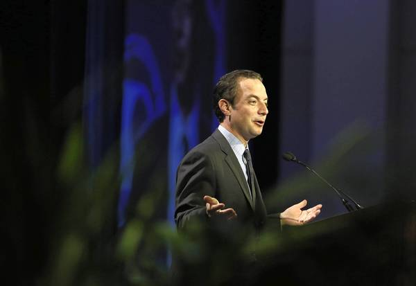 RNC Chairman Reince Priebus speaks at the National Association of Latino Elected Officials conference at the Swissotel.