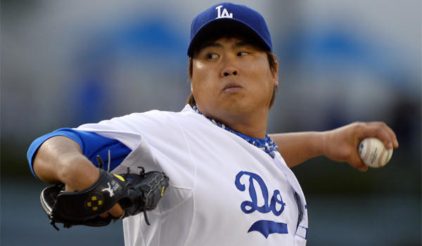 Dodgers starter Hyun-Jin Ryu pitched seven quality innings against Philadelphia on Saturday night.