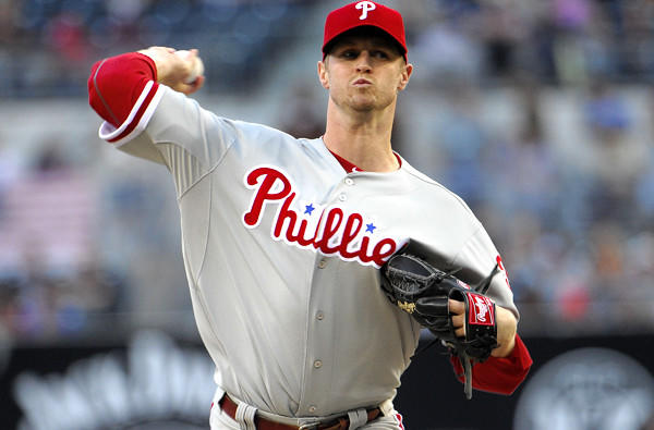 Phillies right-hander Kyle Kendrick works against the Padres in his last start.