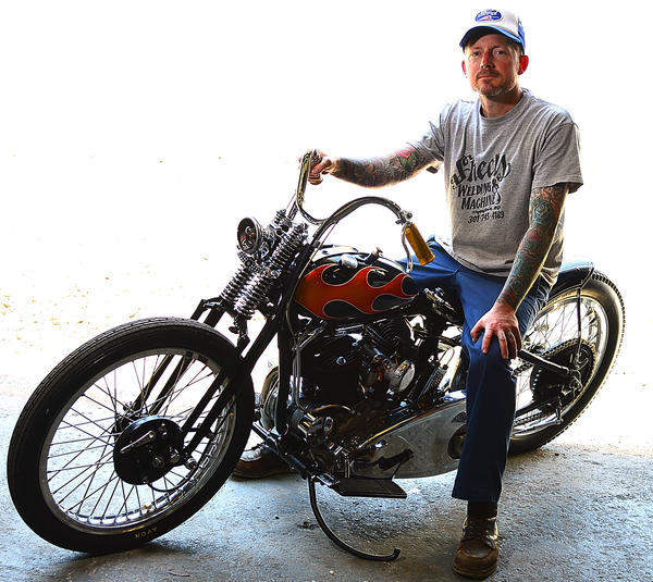 Jason Sheets traveled to California recently to show his modified 1931 Harley-Davidson motorcycle in the Born Free 5 show.