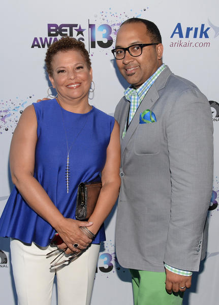 Chairman and Chief Executive Officer of BET Debra Lee (L) and Senior Vice President and General Manager of BET International and Paramount Channel Michael D. Armstrong attend the International Party during the 2013 BET Awards at JW Marriott Los Angeles at L.A. LIVE on June 28, 2013 in Los Angeles, California.