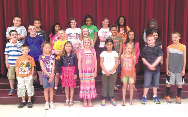 Eastern Elementary School named its Citizens of the Month for May. Front row, from left, Brandon Sensenig, Katavia Jackson, Emma McGinthy, Bailey Webb, Fatima Siddiqui, Stella Flanary, Luke Garrott and Connor Dixon. Middle row, Connor Bowers, Parker Terch, Benjamin Norris, Rachel Shirk, Takyrea Ocasio, Dorismar Miranda and Larissa Rogers. Back row, Christian Nealon, Justin Prather, Jackeline Graciano, Chloe Decker, NyShea Jackson, Kirsten McGhee, Demya Amis and Alia Carter.