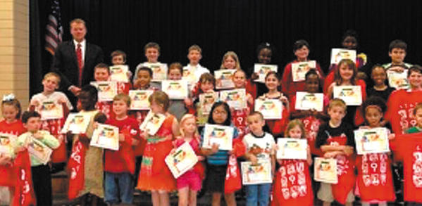 The faculty and staff of Fountaindale Elementary School for Arts and Academic Excellence recently held their fourth and final STARS Recognition Celebration. The students were honored for their academic achievements. Sponsor of this event was William G. Bowen Inc., with Steven P. O'Farrell, as representative for the sponsorship. The students pictured are as follows; First row, from left, Alexa Kretzer, Ty Hames, Mariama Cham, Tyler Schaper, Chelsea Richardson, Alexa Sholes, Maria Soriano, Ben Jones, Hailey Southard, Evan Thomas, Nevaeh Taylor and Hunter Hastings. Second row, Breez Wigfield, Joshua Myers, Dashawn Bernier, Sara Barrett, Patrick McCarthy, Abigail Fields, Lucy Kotler, WyKiea Roberson, Jada Hart, Camryn King and Lauryn Hare. Third row, O'Farrell, Jeffrey Gordon, Caden Rose, Ryan Flint, Chloe Kreit, Keyona Keyes, Bill Barker, Katynah Oney, Caleb Willson and Michael Paz. Absent from the picture: Braiden Allen, Riley Beall, Dylan Schultz, Rileigh Fink, Jamal Rios, Demetrius Dawkins, Kobe Macias, Sam Burzinski, Tyler Remsburg, Diar Maxhuni, John Reece, Helena Johnson, Alexandra Saunders, Nyasia Tywman, Kailee Barnhart and Dazai Taylor.