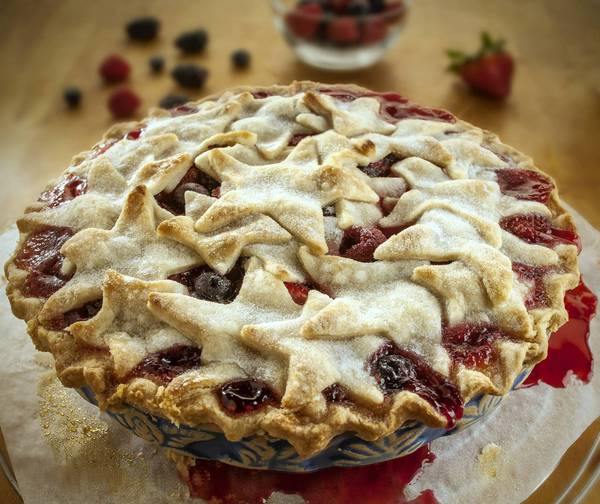 Red, white and blueberry pie: Another banner way to kick off your holiday: homemade pie. Slice, serve a big piece of Americana this Fourth of July.