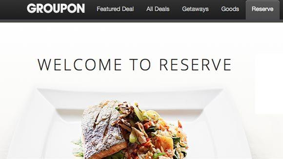 Groupon Reserve offers discounts at high-end restaurants booked through the site.