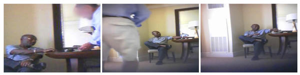 "These stills from a video secretly recorded by FBI agents shows an undercover FBI agent counting out $3,000 in $100 bills for then Miramar City Commissioner Fitzroy Salesman. The video was recorded by agents on July 28, 2007 in a hotel room at the Westin Diplomat Resort & Spa in Hollywood. Agents said the money was a ""bonus"" or ""good faith payment"" for steering Miramar city contracts to them. Salesman was convicted of federal bribery and extortion charges on April 6. FBI Video"