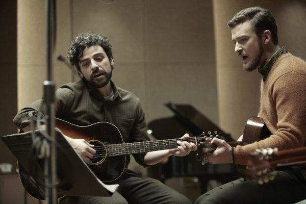 "Oscar Isaac, left, and Justin Timberlake in ""Inside Llewyn Davis."""