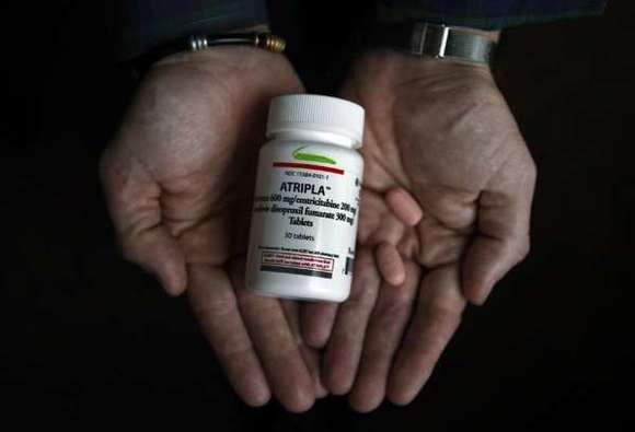 HIV therapy drug