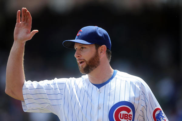 Cubs starting pitcher Scott Feldman was traded Tuesday to Baltimore.