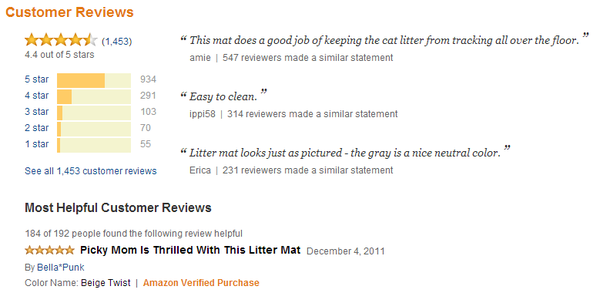 writing a bad review