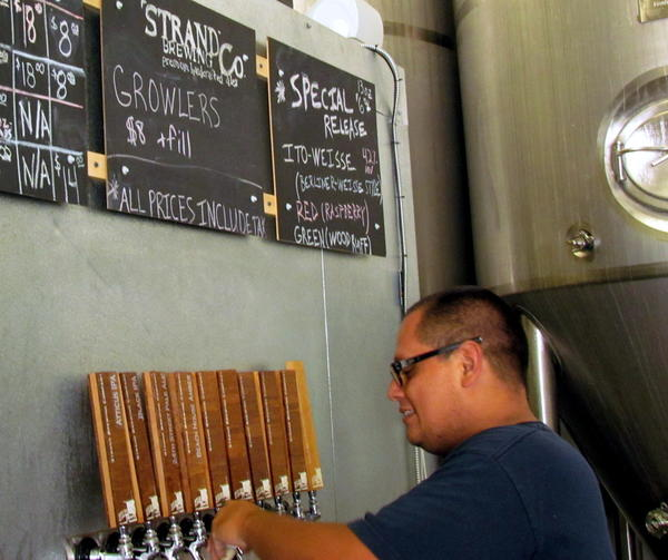 Ito Weisse is available on tap at Strand Brewing's tasting room in Torrance.