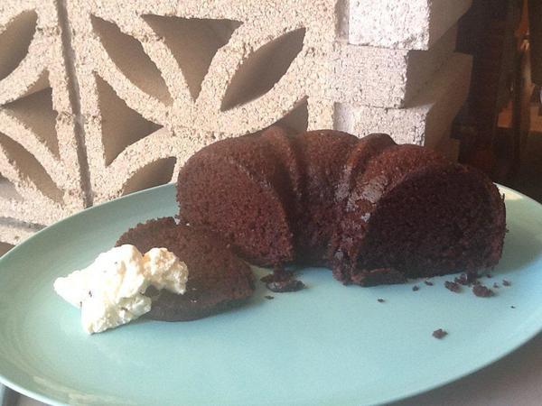 A gluten-free chocolate cake.