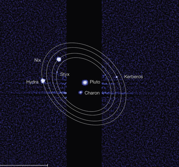 An updated family portrait shows Pluto and its five named moons.