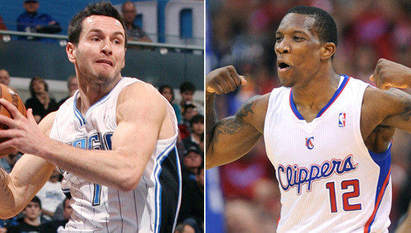 The Clippers acquired J.J. Redick, left, from the Milwaukee Bucks after sending Eric Bledsoe to the Phoenix Suns on Tuesday as part of a three-team trade.