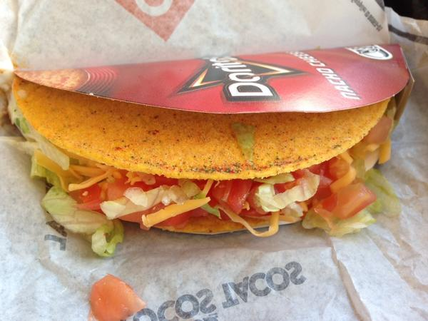Taco Bell's Cool Ranch Doritos Locos taco.
