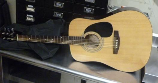 This guitar was used to try and smuggle methamphetamine through the Calexico downtown Port of Entry Sunday.
