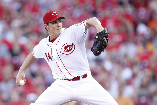 Reds right-hander Homer Bailey fires to the plate Tuesday night against the Giants. (Getty Photo)