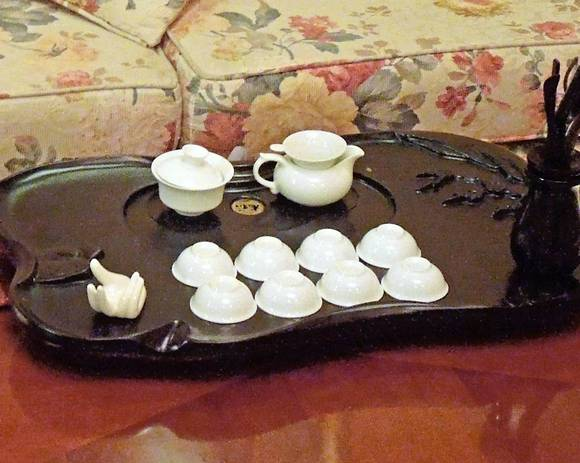 A Chinese tea set
