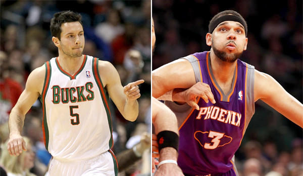 The Clippers acquired J.J. Redick, left, and Jared Dudley, right, in addition to two second round draft picks in exchange for Eric Bledsoe as part of a three-team trade on Tuesday.