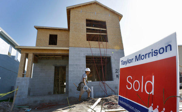 New-home sales fell in July compared to June but were still above the numbers from a year ago.