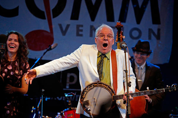 Steve Martin performs in Philadelphia last May. On Tuesday, a man called the F.M. Kirby Center for the Performing Arts in Wilkes-Barre to report he found the wallet that Martin lost while bicycling around the city.