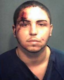 Orlando police say Jovany Ruiz Gonzalez started a fistfight with officers Monday.